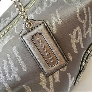 Coach Silver Signature Hobo Shoulder Bag